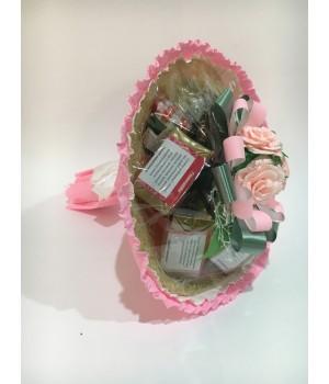 Чайный букет со сладостями «НЕЖНОСТЬ»