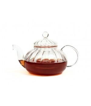 """Чайник """"Лотос"""" из жаропрочного стекла с заварочной колбой  600 мл"""