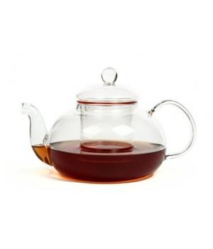 """Чайник """"Смородина"""" 600 мл. из жаропрочного стекла с заварочной колбой"""