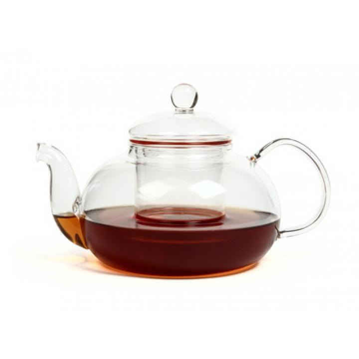 """Чайник """"Смородина"""" из жаропрочного стекла с заварочной колбой  900 мл"""