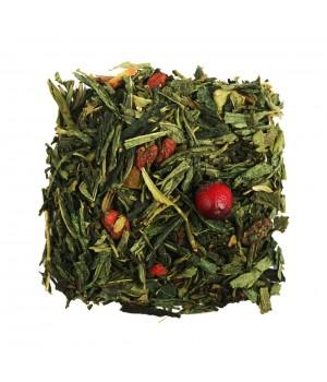 Чай Клюква и Годжи 100 гр. зеленый ароматизированный