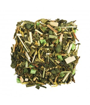 Чай Лайм и Женьшень 100 гр. зеленый ароматизированный