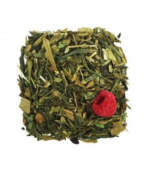 Чай Малина и Мята 100 гр.зеленый ароматизированный